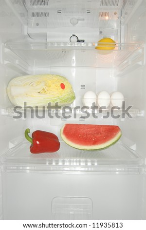 Mixed content inside a fridge