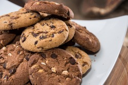 Mixed Cookies on a white plate