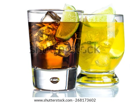 Mixed drinks on white background #268173602
