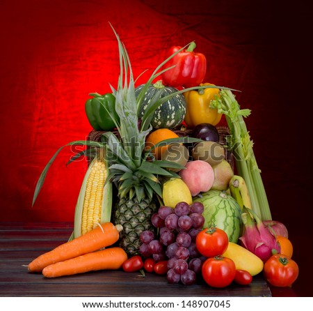 mixed  fruits vegetables