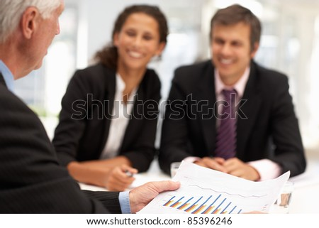 Mixed group in business meeting