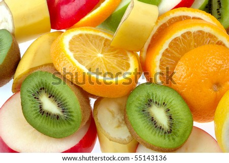 Mixed of fresh fruits