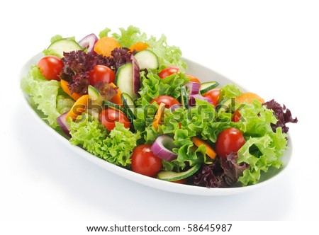 Mixed salad of raw vegetables