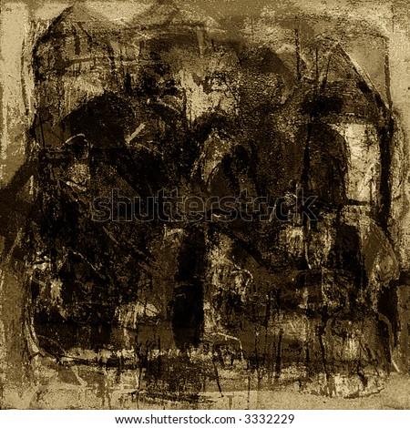 Mixed technics, Abstract painting