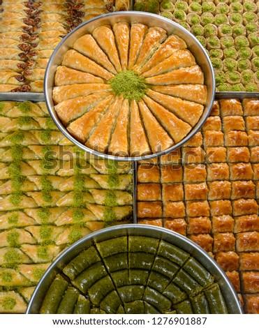mixed tray baklava, turkish baklava, turkish culture Stok fotoğraf ©