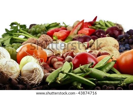 Mixed vegetable basket Stock fotó ©