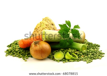 mixed vegetables for making traditional Dutch green pea soup