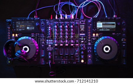 Mixer equipment entertainment DJ station
