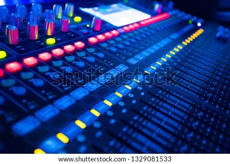 Mixers Audio Interfaces Blue light tone #1329081533