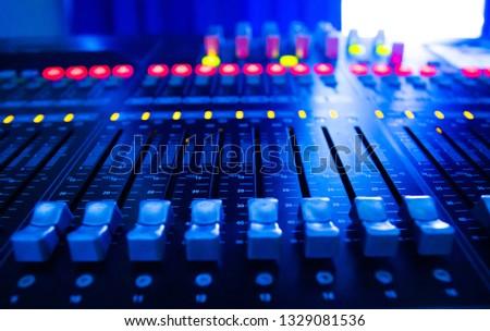Mixers Audio Interfaces Blue light tone #1329081536