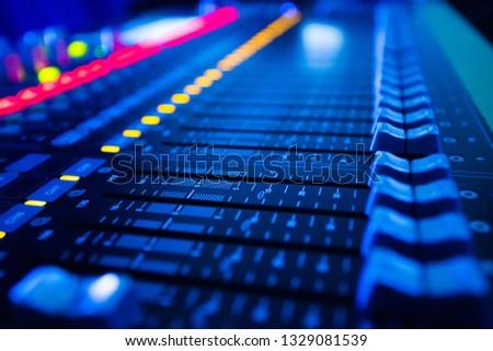 Mixers Audio Interfaces Blue light tone #1329081539