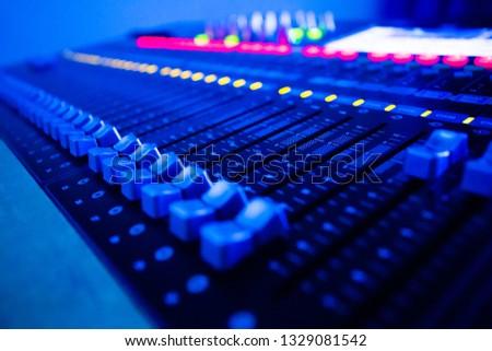 Mixers Audio Interfaces Blue light tone #1329081542