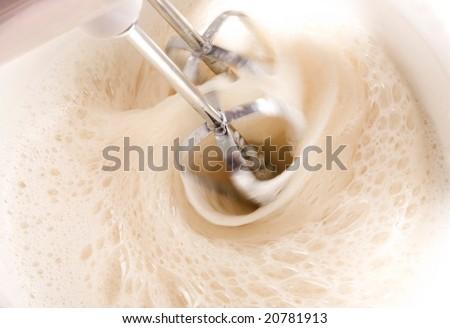 Mixing a dough