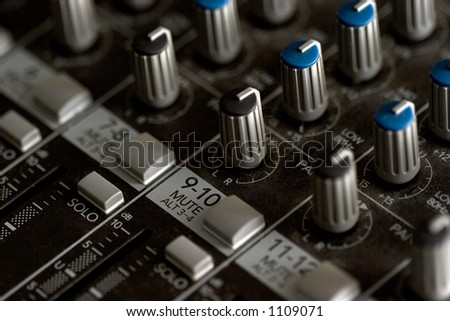 Mixing board, detail