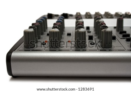 Mixing Desk (Top Front View) - stock photo