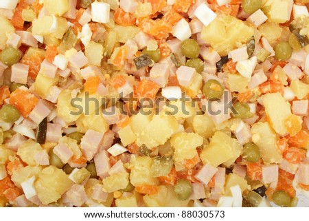 Mixture for Russian salad