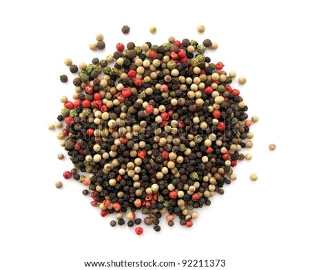 mixture of dried peppercorns