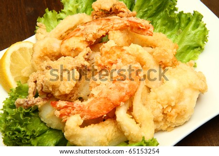 mixture of fried fish