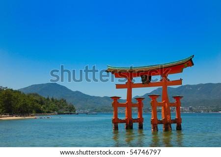 Miyajima gate at Hiroshima