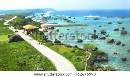 Miyakojima island landscape,Okinawa,Japan.