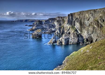 Mizen Head, Ireland - atlantic coast cliffs at Mizen Head, County Cork, Ireland