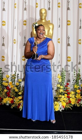 Mo\'Nique, Best Supporting Actress for Precious Based on the Novel Push by Sapphire, 82nd Annual Academy Awards Oscars Ceremony-PRESS ROOM, The Kodak Theatre, Los Angeles March 7, 2010