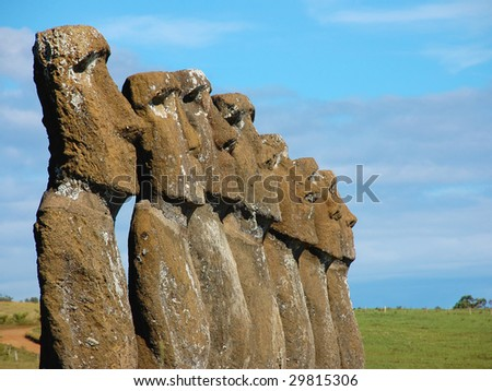 Moai at Easter Island (Chile)