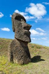 Moai in Rano Raraku, Rapa Nui National Park, Easter Island, Chile, Unesco World Heritage