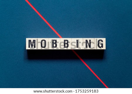 Mobbing word concept on cubes Stockfoto ©