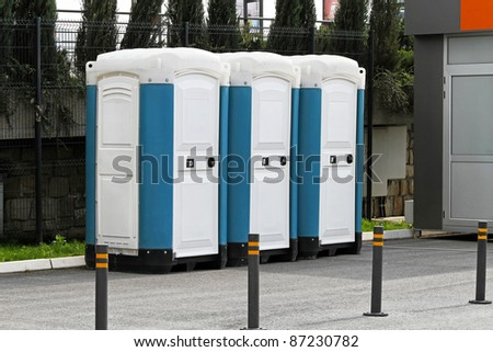 Mobile and temporary chemical toilet sanitation units
