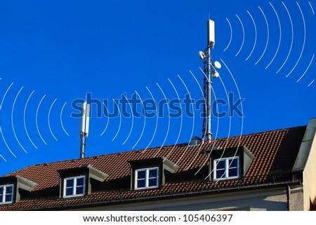 Mobile antennas with radiation