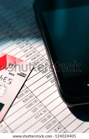 Mobile banking - stock photo
