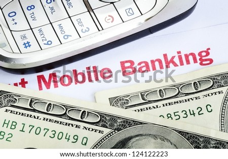 Mobile banking concept of online banking with smartphone