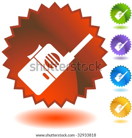 mobile device badge one - stock photo