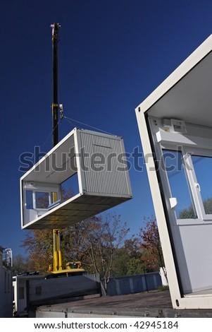 mobile home handling - stock photo