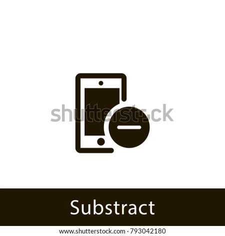 mobile icon. substract mobile. sign design