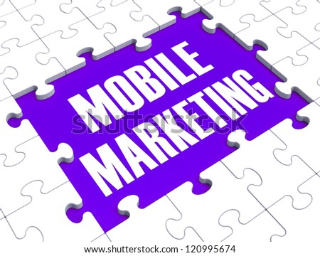 Mobile Marketing Shows Online Commerce And Promotions