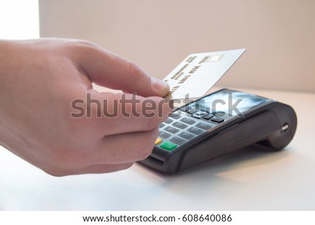 Mobile payment PayPass.