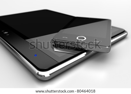 Mobile phone and tablet - also as footage available