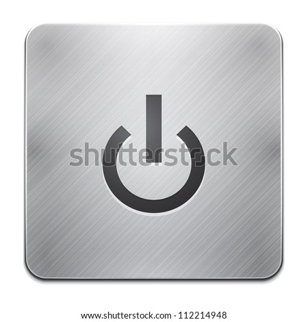 Mobile phone app power icon