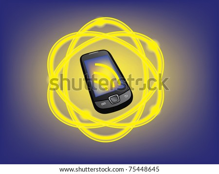 mobile phone connection illustration