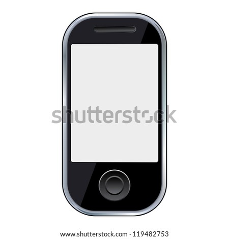 Mobile phone icon. Raster version of vector illustration.