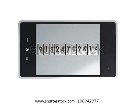 Mobile phone is locked password
