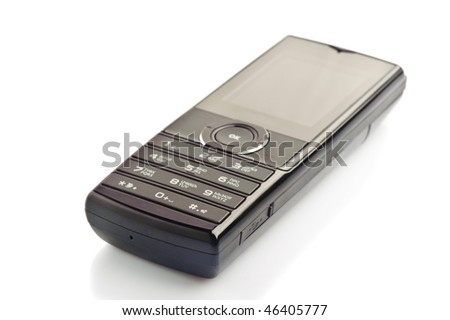 mobile phone isolated on the white