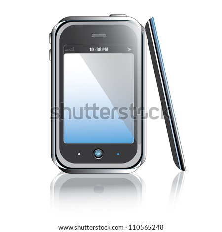 mobile phone isolated on white background raster