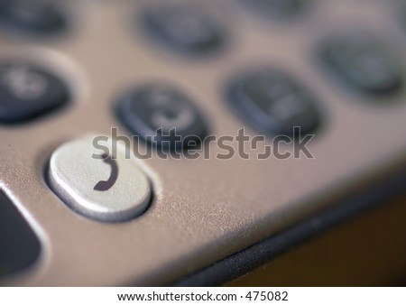 Mobile Phone Keypad With Shallow Depth Of Focus To Emphasize The