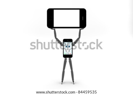Mobile phone man with an other phone