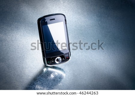 mobile phone on silver background. Look for more in MY PORTFOLIO