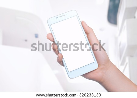 Mobile phone on the background. Mobile technology. Mobile photo. Insert text #320233130