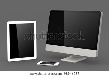 mobile phone, tablet, desktop